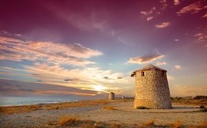 Windmills Lefkada Town
