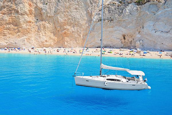 sailing to lefkada