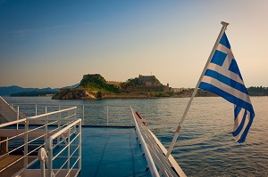 Ferry from Corfu